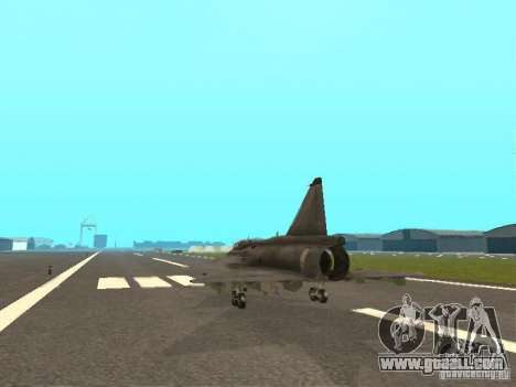 Saab JA-37 Viggen for GTA San Andreas right view