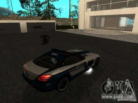 Mercedes-Benz SLR 722 SCPD for GTA San Andreas left view