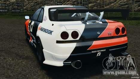 Nissan Skyline GT-R (R33) v1.0 for GTA 4 back left view