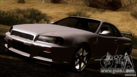Nissan Skyline R34 Drift for GTA San Andreas left view