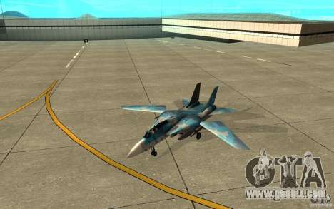F-14 Tomcat Blue Camo Skin for GTA San Andreas left view