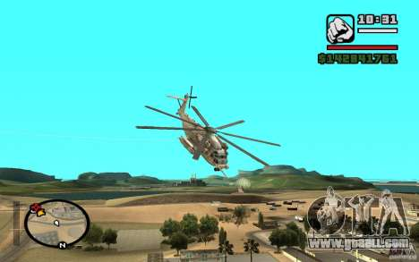 Sikorsky MH-53 with closed hatch for GTA San Andreas