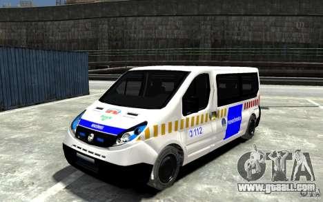 Opel Vivaro Hungarian Police Van for GTA 4
