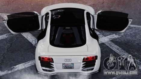 Audi R8 LeMans for GTA 4 back left view