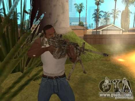 Machine gun MK-48 for GTA San Andreas forth screenshot