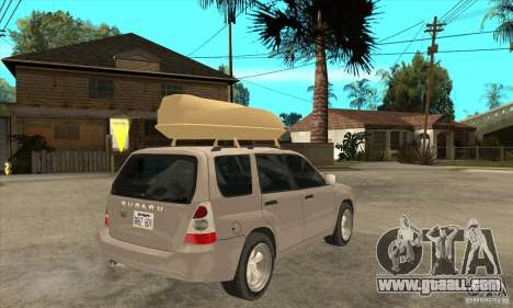 Subaru Forester 2005 for GTA San Andreas right view