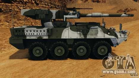 Stryker M1128 Mobile Gun System v1.0 for GTA 4 left view