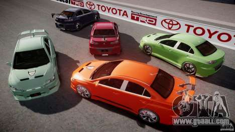 Mitsubishi Lancer Evolution X Tuning for GTA 4 engine