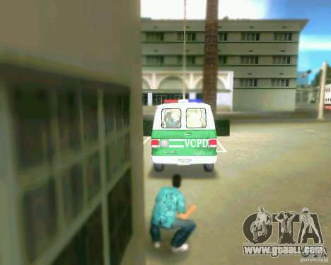 Chevrolet Van G20 for GTA Vice City inner view