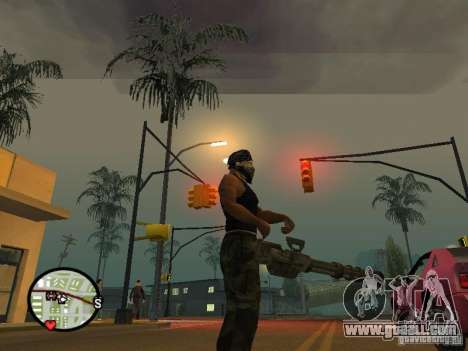 M134 Minigun from CoD: Mw2 for GTA San Andreas fifth screenshot