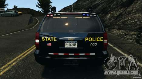 Chevrolet Tahoe Marked Unit [ELS] for GTA 4 interior