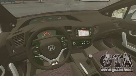 Honda Civic Si Coupe 2012 for GTA 4 back view