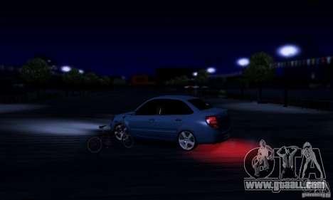 Lada Granta Light Tuning for GTA San Andreas inner view