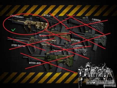 Tavor Tar-21 Camodesert for GTA San Andreas forth screenshot
