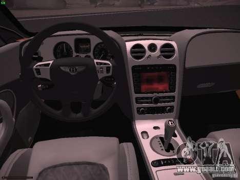 Bentley Continetal SS Dubai Gold Edition for GTA San Andreas back view
