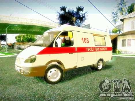 Gazelle 2705 BAKU AMBULANS for GTA San Andreas