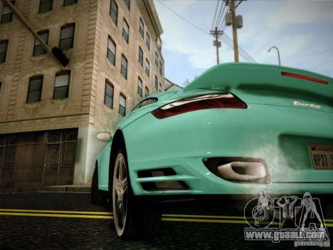 Porsche 911 (997) turbo for GTA San Andreas back left view