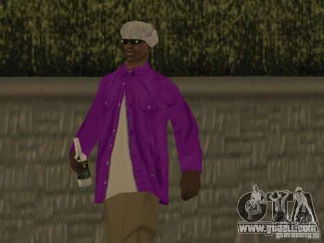 New skins Ballas for GTA San Andreas forth screenshot