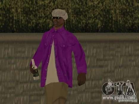 New skins Ballas for GTA San Andreas forth screenshot