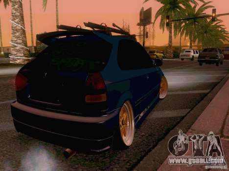 Honda Civic JDM Hatch for GTA San Andreas back left view
