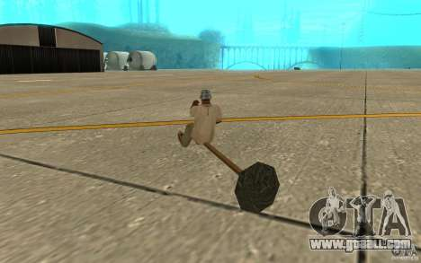 Flying Broom for GTA San Andreas right view