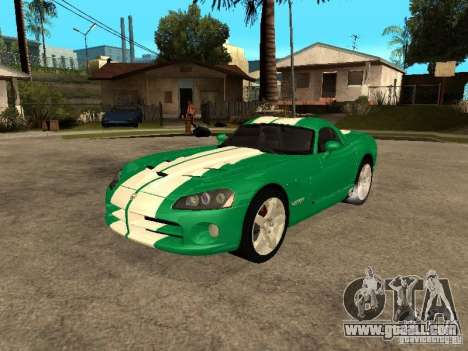 Dodge Viper Coupe 2008 for GTA San Andreas upper view