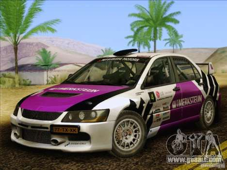 Mitsubishi Lancer Evolution IX Rally for GTA San Andreas upper view