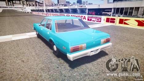 Dodge Aspen v1.1 1979 yellow rear turn signals for GTA 4 back left view