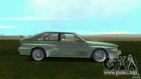 Audi Quattro for GTA Vice City left view