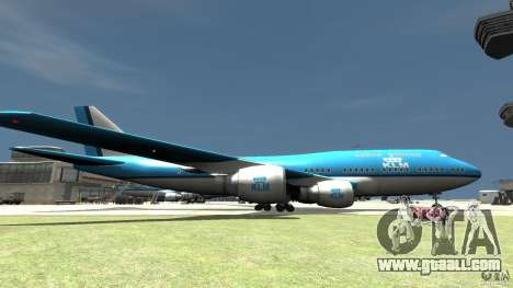 Real KLM Airplane Skin for GTA 4 left view