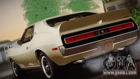 AMC Javelin AMX 401 1971 for GTA San Andreas right view