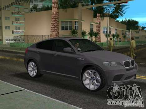 BMW X6M for GTA Vice City back left view