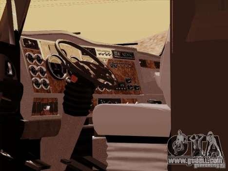Kenworth T2000 for GTA San Andreas inner view