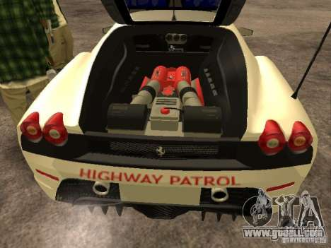 Ferrari Scuderia Indonesian Police for GTA San Andreas inner view