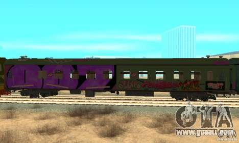 Custom Graffiti Train 2 for GTA San Andreas right view