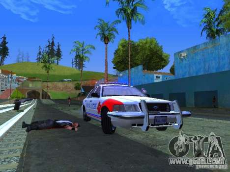 Ford Crown Victoria Police Patrol for GTA San Andreas right view
