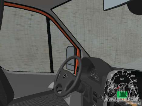 Mercedes-Benz Sprinter 518 MAXI 2007 for GTA San Andreas inner view