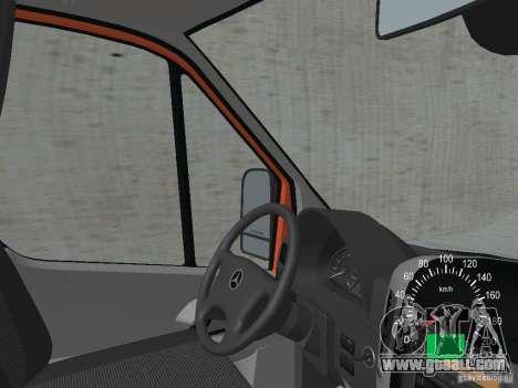 Mercedes-Benz Sprinter 518 MAXI 2007 for GTA San Andreas inner view