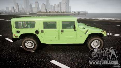 Hummer H1 for GTA 4 upper view