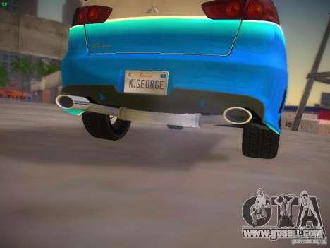 Mitsubishi Lancer Evo X Tunable for GTA San Andreas bottom view