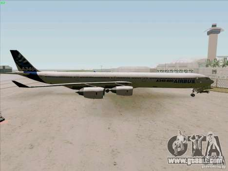Airbus A-340-600 for GTA San Andreas left view