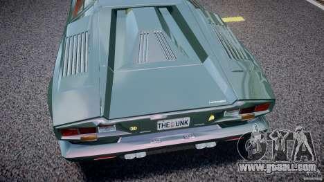 Lamborghini Countach v1.1 for GTA 4 inner view