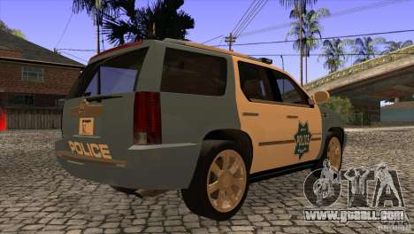 Cadillac Escalade 2007 Cop Car for GTA San Andreas right view
