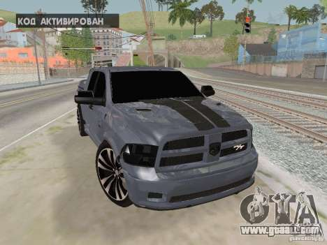 Dodge Ram R/T 2011 for GTA San Andreas back view