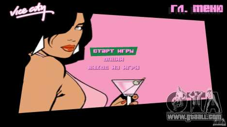Menu for GTA Vice City