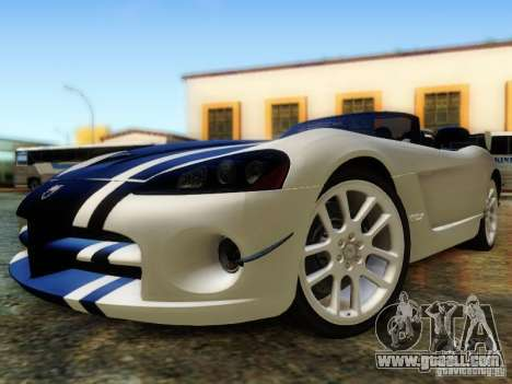 Dodge Viper SRT-10 Roadster ACR 2004 for GTA San Andreas side view