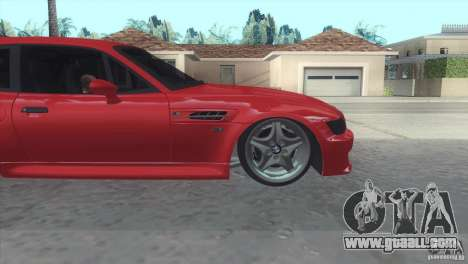 BMW Z3 M Power 2002 for GTA San Andreas back view