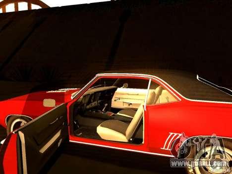 Chevrolet Camaro 1967 for GTA San Andreas back view