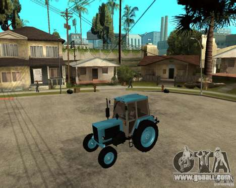 Tractor Belarus 80.1 and trailer for GTA San Andreas