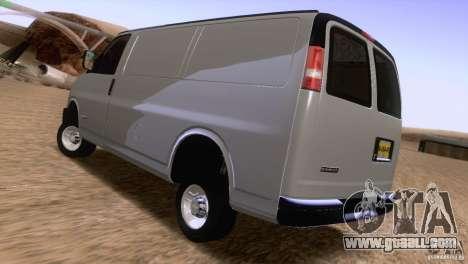 Chevrolet Savana 3500 Cargo Van for GTA San Andreas back left view